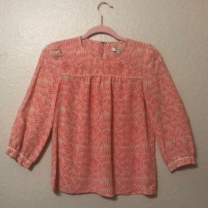 Madewell silk blouse size Small